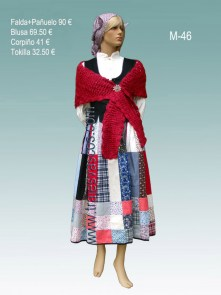 Trajes Regionales Vascos: Traje tradicional vasco mujer M42